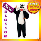 C611 Looney Tunes - Sylvester the Cat Halloween Fancy Dress Adult Costume Outfit