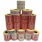 Postage Stickers Labels - Fragile, Glass, Urgent, This Way Up, Handle With Care