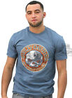 Harley-Davidson Mens Demolition Willie G Skull Denim Blue Short Sleeve T-Shirt