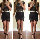 Hot Sale Sexy Mesh Lace Slim Short Dress Prom Evening Party Cocktail Mini Dress