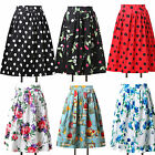 Sweet Countryside Vintage Floral Skirt Calf Tea Party Full Circle Skirt Dress