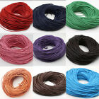 Wholesale 5 Meters Real Leather Necklace Charms Rope String Cord 1,1.5,2,2.5,3mm