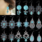 Lots of Dangle Drop Earrings Bohemian Style Turquoise Crystal Fashion Jewelry
