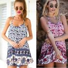 Sexy Women Summer Casual Elephant Print Cocktail Party Evening Beach Dress DJNG