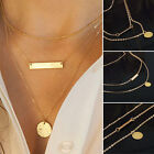 Women Pendant Gold Chain Choker Chunky Statement Bib Necklace Jewelry Charming