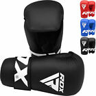 RDX Leather UFC MMA Grappling Gloves Fight Boxing Muay Thai Punch Bag Mitts Kick