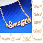 1PC Best Wishes Gold Plated Necklace Collarbone Pendant Unisex Stylish Chic