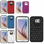 For Samsung Galaxy S6/S6 Edge Luxury Bling Diamond Stand Hybird Cover Case