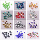 30pcs Oval Faceted 10x8mm Crystal Glass Findings Loose Spacer Beads 44Colors
