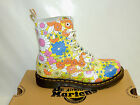DR MARTENS 'VINTAGE DAISY' 8 EYELET LACE UP LEATHER BOOTS. BNIB