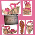 New in Box Born Caicos FUXIA (PINK) Full Grain Leather Sizes:7,8 $105