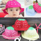 Infant Toddler Baby Girls Sun Flower Strawberry Dot Cotton Hat Caps Bonnet Beach