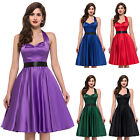 GRACE KARIN CLASSIC VINTAGE STYLE 1950's FULL CIRCLE ROCKABILLY SWING PROM DRESS