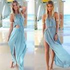 Beach Dresses Boho Long Maxi S/M/L Party Dress Summer Sexy Blue