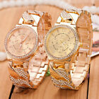 Women's Fashion Crystal Geneva Bling Girl Stainless Steel Quartz Wrist Watch New