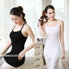 Womens Stretchy Camisole Long Tank Top Spaghetti Strap Basic Slip Mini Dress