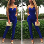 Baggy Blue Sexy Women Clothes Cocktail Party Bandage Bodycon Jumpsuit Dress