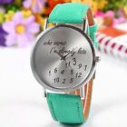 Who Cares I'm Already Late Funny Fashion Women's Lady Leather Quartz Wrist Watch