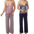 Ladies Satin Snake Print Pjs Pyjamas Nightwear Pajamas Cami Night silky  Summer