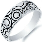 New 925 Sterling Silver Abstract Unique Design Wedding Love Band Ring Size 3-11