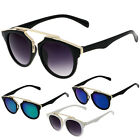 Retro Designer Women Men Cat Eye Sunglasses Oversized Vintage Mirror Lens UV400