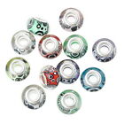 Sonderpost Mix Bunt European Charms Rund Harz European Perlen Beads 14x9mm