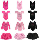 Girl Gymnastic Dance Skate Dress Kid Ballet Leotard Tutu Dancewear Skirt Unitard