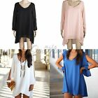 New Sexy Womens Loose Sexy V Neck Strapless A-line Casual Mini Shirt Dress White