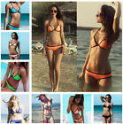 Sexy Women's Bandage Halter Triangle Bikini Push-Up Swimsuit Swimwear Beachwear