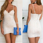 Womens BodyCon Clubwear V Neck Backless Party Evening Cocktail Short Mini Dress