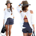 Sexy Ladies Women Summer Loose Casual Cotton Vest Tee Shirt Tops Blouse White