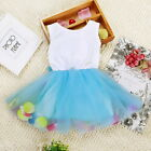 Toddler Baby Kids Girl Princess Party Tutu Lace Bow Flower Infant Dress Newborn