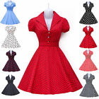 2015 MODERN NEW AUDREY VINTAGE 1950's 60's ROCKABILLY PINUP SWING EVENING DRESS