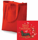 Dachshund Smooth Haired Tote Bag Embroidered by Dogmania