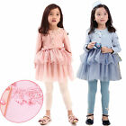 Kids Toddlers Girls Lovely Pink Bow Ruffle Tulle Princess Dresses 2-7Y Clothing