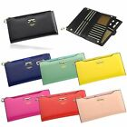 Fashion Women's Bowknot Clutch Soft PU Leather Wallet Long Card Purse Handbag