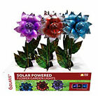 Alpine Solaris Solar Metal & Glass Globe Flower Garden Light Stake