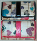 30 % OFF Collector Sweet Heart Series Pink Blue Faux Leather Tri-fold Wallet nwt