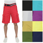 Rocawear Men's Belted Cuffed Ripstop Cotton Cargo Shorts