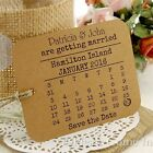 Personalised Kraft Mini Calendar Save the Date Tags with Envelope Rustic Wedding