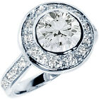 925 Sterling Silver Shiny Round Clear CZ Engagement Wedding Love Ring Size 3-11