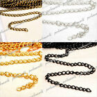 wow!! Iron Curb Unfinished Chain 0.8x3mm links Fit Necklace Bracelet V-CH0112