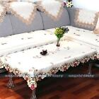 Rectangle Embroidered Flower Cutwork Tablecloth Table Cover Decor 3 Sizes #8