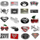 BBUM0343 MANY CASUAL STYLES SKULL / DRINKS / SUPERHERO ALLOY METAL BELT BUCKLE