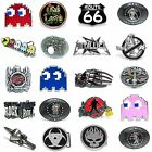 BBUM0344 MANY CASUAL STYLES HOROSCOPE / GAME / MUSIC ALLOY METAL BELT BUCKLE