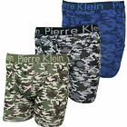 6 or 12 Pack Mens Pierre Klein Camouflage Boxer Shorts Sizes S M L XL 2XL Camo