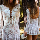 Hot Womens Sexy Bodycon Lace Backless Cocktail Evening Party Mini Dress Clubwear