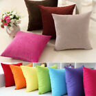 Suede Nap Cushion Cover Sofa Throw Pillow Case Home Decor Solid 20 Colors New