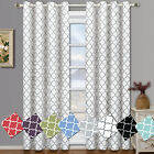 Meridian Room Darkening Grommet  Window Curtain Drapes, Set of 2 Panels