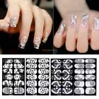6 Sheet 3D Lace Nail Art Tips Stickers Wraps Decal Manicure Decoration DIY B20E